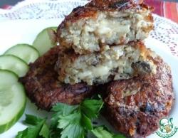 Рисовые котлеты с сыром и грибами