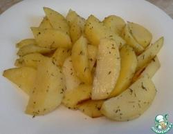 Картофель с тимьяном в рукаве