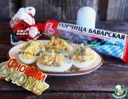 Яйца, фаршированные скумбрией в горчице