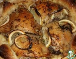 Курица в съедобной тарелке