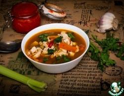 Суп минестроне с тыквой и курицей