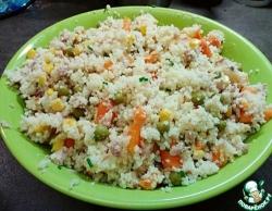 Кус-кус с тунцом и овощами