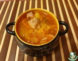 Суп картофельный с кимчи