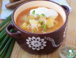 Суп с солёными зелёными помидорами