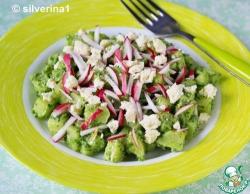 Салат с заправкой из черемши