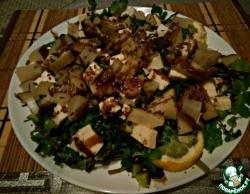 Средиземноморский салат из груши и творожного сыра