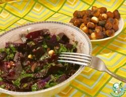 Салат из свеклы с фундуком