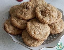 Овсянное печенье с добавлением кокосовой стружки