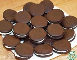 "Шоколадное печенье по мотивам ""Орео"""