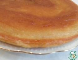 Пирог без сахара на сковороде