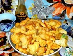 Тэмпура из капусты и грибов