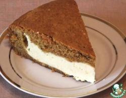Морковный пирог с творожным суфле