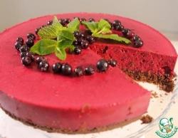 Шоколадно-ягодный торт без выпечки