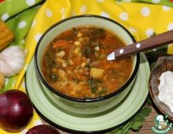 Вегетарианский суп со стручковой фасолью