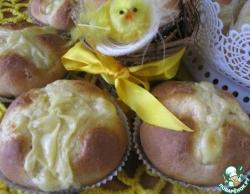 Пасхальные булочки с ванильным пудингом