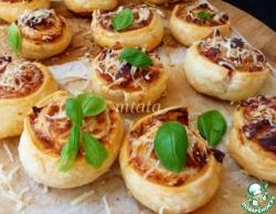 Фасолевый салат с блинчиками и креветками