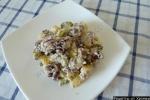 Зимний  салат Цада  с говядиной и соленым огурцом