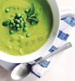 Суп с зеленым горошком и мятой