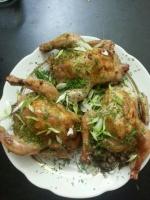 Фаршированные цыплята корнишоны