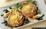 Кулинарный рецепт Фасолевые рулеты с яичной начинкой с фото