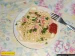 Макароны с колбасой