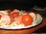 Кулинарный рецепт Спагетти ...в сосисках! с фото