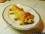 Кулинарный рецепт Сосиска в тесте Собачка с фото