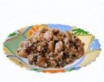 Кулинарный рецепт Гречка с сосисками с фото
