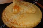 Кулинарный рецепт Блинчики на сгущенном молоке с фото