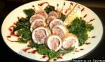 Кулинарный рецепт Кальмары фаршированные грибами с фото