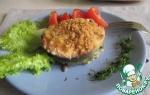 Медальоны из лосося с рисом и грибами