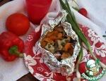 """Лодочки"" для гриля с индейкой и абрикосами а-ля Кикоманн"