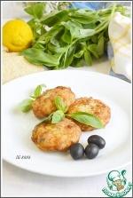 Котлеты из индейки с пармезаном, маслинами и базиликом