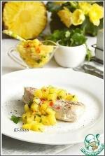 Запеченное филе индейки с ананасовой сальсой