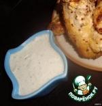 Белый соус с огурцом