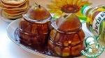 Башенки из груш и оладий с шоколадом