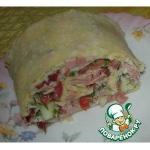 Рулет из лаваша с салатом