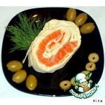 Рулет со слабосолeным лососем