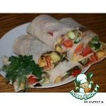 Овощные рулетики из лаваша