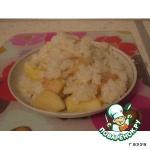 Рисовая каша, запеченная с яблоками