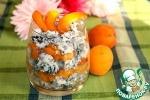 Десерт из риса МИКС с абрикосами фламбе и имбирем