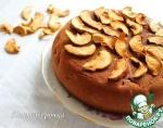 Шоколадный фруктовый пирог без масла