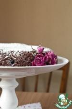 Простой шоколадный кекс с ягодами