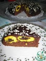 Пирог с тыквой и творожно-кокосовыми шариками в мультиварке