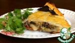 Картофельная запеканка с курицей и овощами под сырной корочкой