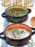 Грибной суп с вермишелью приготовленный в мультиварке Stadler Form