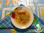 Суп из свиных хвостов с грибами