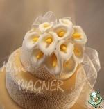 Каллы из сахарной мастики для декорирования тортов и не только!