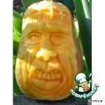 Резная тыква-Франкенштейн-украшение к Хеллоуину