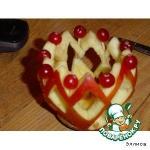 Подсвечник из яблока
